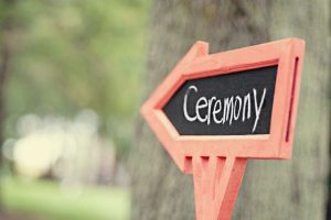 wedding ceremony sign - 2020 wedding trends