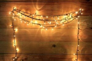 Hanging Fairylights - Easy Wedding Decorations